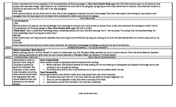 McGraw-Hill Reading Wonders 6th Grade UNIT 6 On Level Small Group Plans