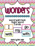 Common Core Kindergarten Word Wall Sight Words that Correlates with Wonders
