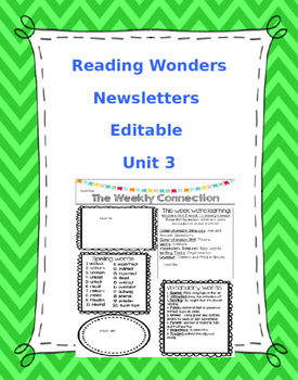 McGraw-Hill Reading Wonders EDITABLE 4th grade Weekly News