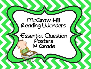 McGraw Hill Reading Wonders:  Essential Question Posters
