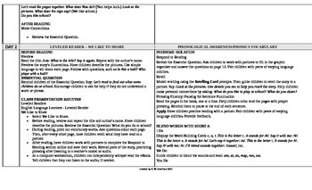Reading Wonders 1st Grade UNIT 1 ELL Small Group Plans