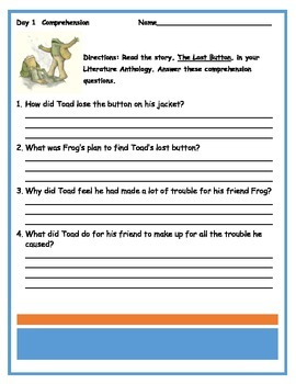 First Grade Reading Wonders Unit 5 Review