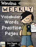 Weekly Wonders Vocabulary Pages