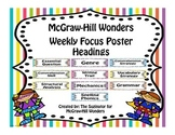 McGraw-Hill Reading Wonders Focus Wall Headers (Landscape)