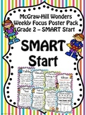 McGraw-Hill Reading Wonders Focus Wall Posters SMART Start Grade 2