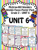McGraw-Hill Reading Wonders Focus Wall Posters Unit 6 Grade 2