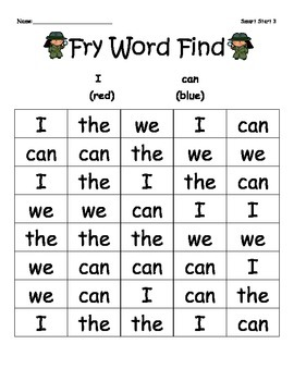 McGraw-Hill Reading Wonders Sight Word Color Find Bundle (Full Year)