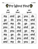 McGraw-Hill Reading Wonders Sight Word Color Find Unit 4-Unit 7