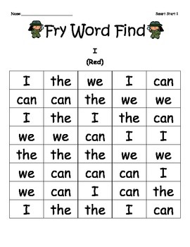 McGraw-Hill Reading Wonders Sight Word Color Finds Smart S