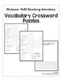 McGraw-Hill Reading Wonders Grade 1 Unit 1 Vocabulary Crossword Puzzles