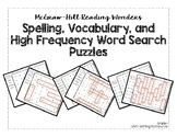 McGraw-Hill Reading Wonders Grade 1, Unit 1 Word Search Puzzles