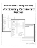 McGraw-Hill Reading Wonders Grade 1 Unit 2 Vocabulary Cros
