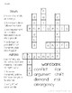 McGraw-Hill Reading Wonders Grade 1 Unit 6 Vocabulary Crossword Puzzles