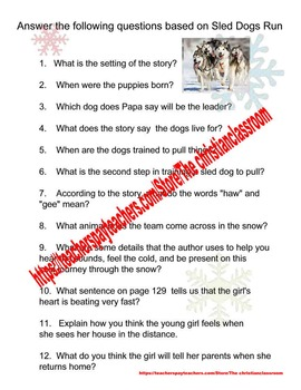 McGraw Hill Reading Wonders Grade 2 Sled Dogs Run Supplementary Material
