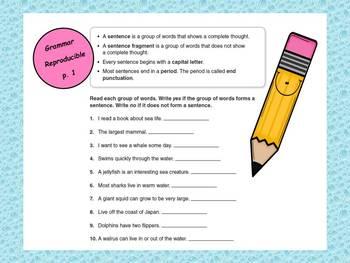 McGraw-Hill Reading Wonders Grade 3 Grammar Unit 1 BUNDLE