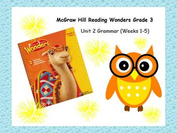 McGraw-Hill Reading Wonders Grade 3 Grammar Unit 2 BUNDLE
