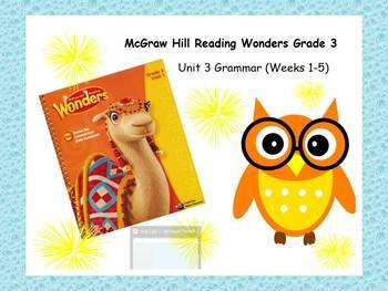 McGraw-Hill Reading Wonders Grade 3 Grammar Unit 3 BUNDLE