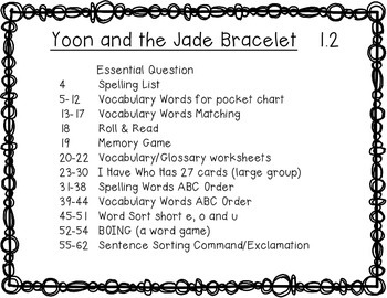McGraw Hill Reading Wonders Grade 3 Yoon and the Jade Bracelet 1.2