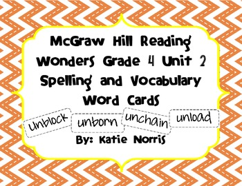 McGraw-Hill Reading Wonders Grade 4 Unit 2 Spelling and Vo