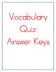 McGraw Hill Reading Wonders Grade 4 Unit 2 Vocabulary Quiz Bundle