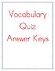 McGraw Hill Reading Wonders Grade 4 Unit 3 Vocabulary Quiz Bundle