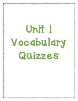 McGraw Hill Reading Wonders Grade 4 Vocabulary Quiz Bundle *ALL UNITS*
