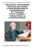 McGraw Hill Reading Wonders Grade 5 Unit 2 Week 1 Social Studies Work Sheet