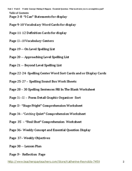McGraw Hill Reading Wonders Grade 5 Unit 2 Week 5 Lesson Plan, Centers and WS