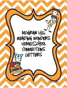 McGraw Hill Reading Wonders Home/School Connection with approaching/beyond spell
