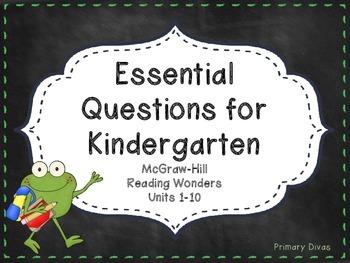 McGraw-Hill Reading Wonders Kindergarten Essential Questions