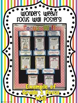 McGraw-Hill Reading Wonders Kindergarten Focus Wall Posters {UNITS 1-10 BUNDLE!}