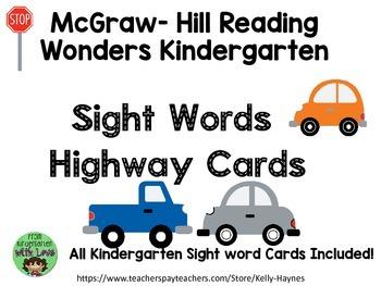 McGraw- Hill Reading Wonders  Kindergarten Sight Word High