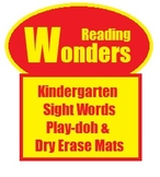 McGraw Hill Reading Wonders Kindergarten Sight Words - Writing and Play-Doh Mats
