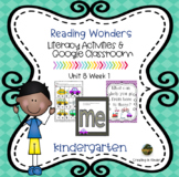 McGraw Hill Reading Wonders Kindergarten Unit 8 week 1