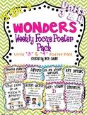 Kindergarten Weekly Focus Wall Posters to Correlate with Wonders - UNITS 3 & 4
