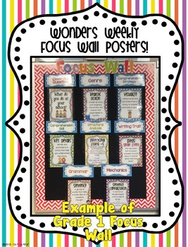 McGraw-Hill Reading Wonders Kindergarten Weekly Focus Wall Posters - UNITS 5 & 6