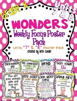 McGraw-Hill Reading Wonders Kindergarten Weekly Focus Wall