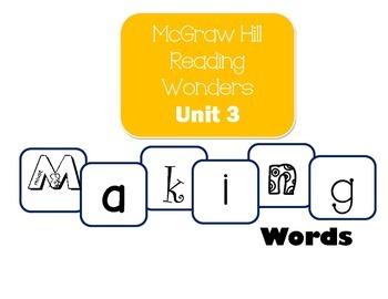 McGraw-Hill Reading Wonders Making Words Unit 3