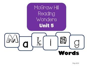 McGraw-Hill Reading Wonders Making Words Unit 5