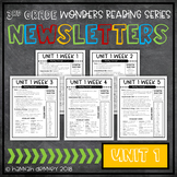 McGraw Hill Reading Wonders Newsletters 3rd Grade Unit 1