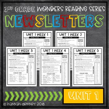 McGraw Hill Reading Wonders Newsletters 3rd Grade Unit 1