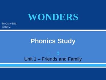 McGraw-Hill Wonders PHONICS STUDY BOARD - Grade 2:  Unit 1