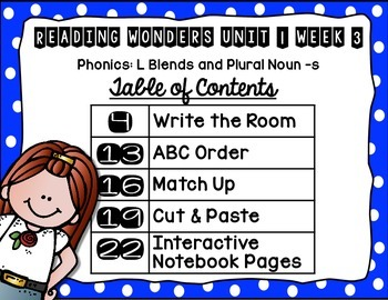 Extending Phonics with Wonders for First: Unit 1 Week 3
