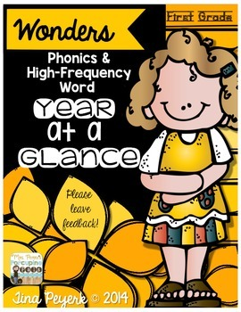 Wonders Phonics and High-Frequency Words Year-at-a-Glance (1st Grade)