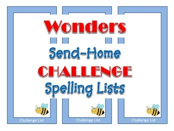 McGraw-Hill Reading Wonders Send-Home CHALLENGE Spelling Lists - Grade 2