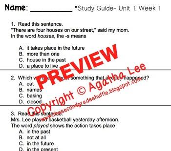 McGraw-Hill Reading Wonders Series- Grade 2- Unit 1 Study Pack