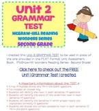 McGraw-Hill Reading Wonders Series- Grade 2- Unit 2 Grammar Test