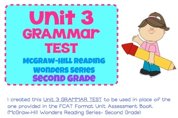 McGraw-Hill Reading Wonders Series- Grade 2- Unit 3 Grammar Test