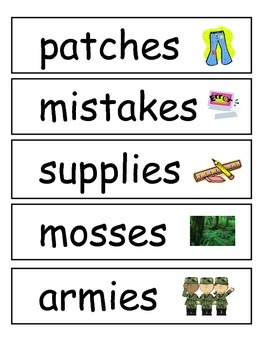 McGraw-Hill Reading Wonders Spelling Words Unit 3 week 4