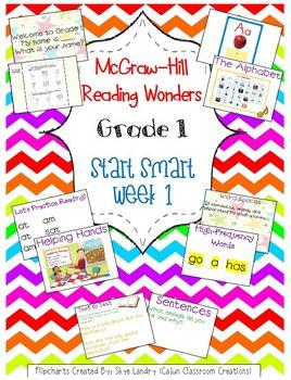 McGraw-Hill Reading Wonders Start Smart Week 1 Bundle FlipCharts